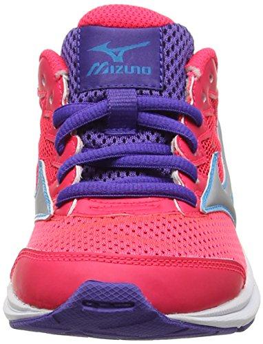 Mizuno Wave Rider 20 Jr, Zapatillas de Running para Niñas, Rosa (Diva Pink/Silver/Liberty), 36 EU