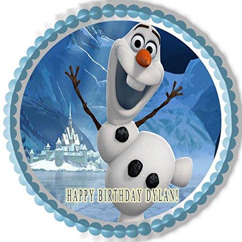 FROZEN Olaf Edible Birthday Cake OR Cupcake Topper - 7.5