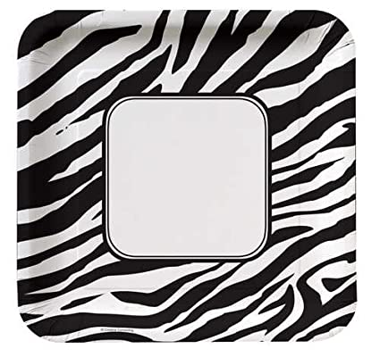 Creative Converting Animal Print Zebra Square Dinner Plates 8 Count  sc 1 st  Amazon.com & Amazon.com: Creative Converting Animal Print Zebra Square Dinner ...