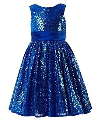Princhar Girl's Sequin Tutu Flower Girl Dress Kids Party Holiday Dress