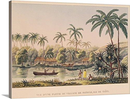 village-of-matavae-tahiti-gallery-wrapped-canvas