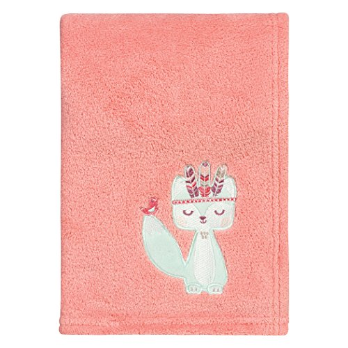 Trend Lab Wild Forever Plush Baby Blanket, Pink, Blue, White by Trend Lab