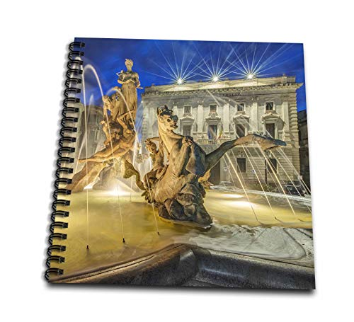 3dRose Danita Delimont - Sicily - Italy, Sicily, Syracuse. Twilight Piazza Archimede - Mini Notepad 4 x 4 inch (db_313751_3)
