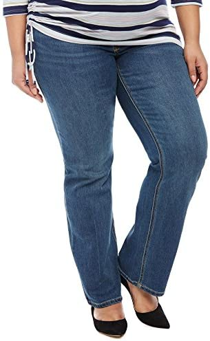 Jessica Simpson Plus tamaño Secret Fit vientre Boot Cut Maternidad jeans