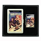 Hard Boiled Sexy Pulp Body Stocking Cigarette Case and Oil Lighter Gift Set D-049