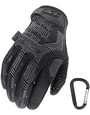 Mechanix WEAR M-PACT Tactical Einsatz-Handschuh, optimaler Schutz, atmungsaktiv beste Passform + Gear Karabiner, Schwarz Covert, Coyote, Multicam, Wolf Grey, Größe: S,M,L,XL