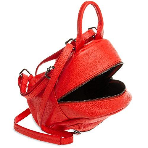 2 Rojo Fina Piel De Color Pequeña Mochila Mujeres La Tl777 Bandolera Las De De Bolso 1 Caspar en Ciudad BUESxwZ