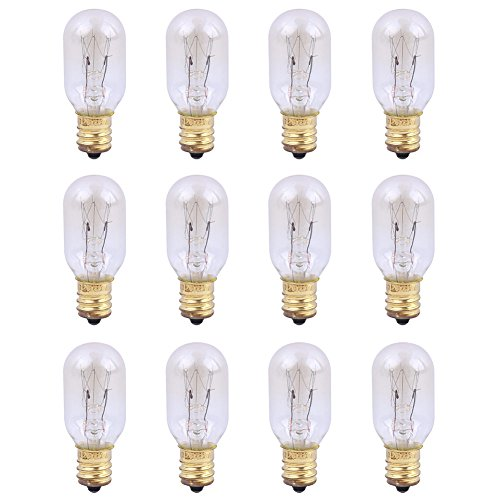 YYout 25 Watt 120V Replacement Light Bulbs for Scentsy Plug-in Nightlight Wax Warmers, Home Fragrance Wax Diffusers & Salt Lamps (Pack of 12) ()