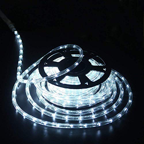 "YULIANG 100 feet 1/2"" Thick 110V 2-Wire Waterproof LED Rope Light Kit for Background Lighting Christmas Lighting,Bridges,Eaves with UL Certified (100ft/30M)"