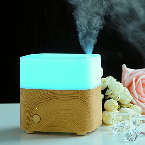 Tuk789 VIP Mini Essential Oil Diffuser 120ml Fragrances Ultrasonic Amora Humidifier Mist Fogger Maker With LED Color Changing For Home