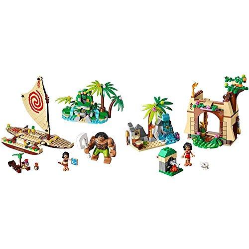 LEGO l Disney Princess Moana's Ocean Voyage 41150 Disney Moana Toy with LEGO l Disney Moana Moana's Island Adventure 41149 Disney Princess Toy Bundle