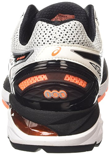 2000 Gt white Scarpa Orange hot Running 4 Asics Bianco black 0190 Uomo HgwqxW7