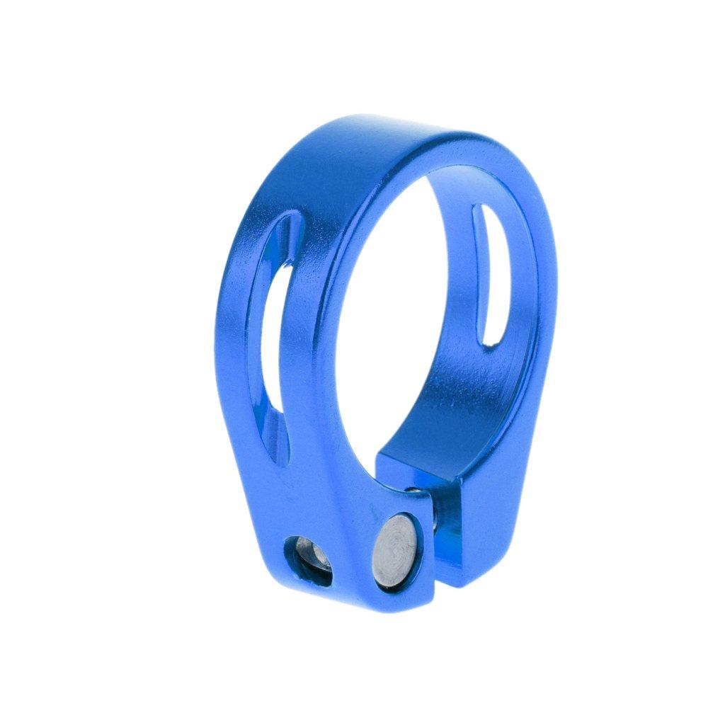 【ノーブランド 品】アルミニウム合金 31.8mm  クイック リリース マウンテン バイク シートポストクランプ チューブクリップ 全5色選べる ブルー B01FCQLZ78