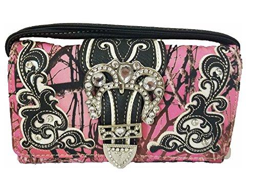 Moonlight Camo Jp Messenger Bag Cross Body Purse Wristlet Wallet Combo Black