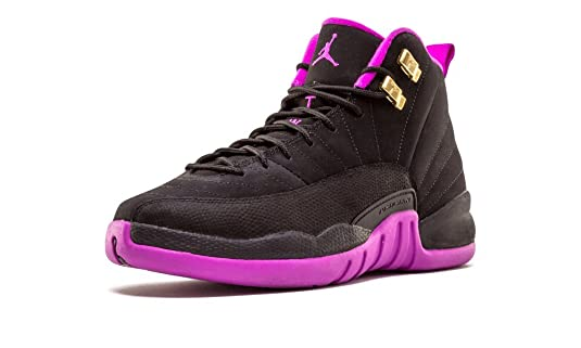 2a7df191278 ... canada amazon jordan air 12 retro gg big kids shoes black metallic gold  violet 510815 018