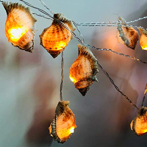 Decorative Sea Conch Lights Beach Lights for Covered Outdoor Camping Wedding Birthday Bedroom Parties Ornaments