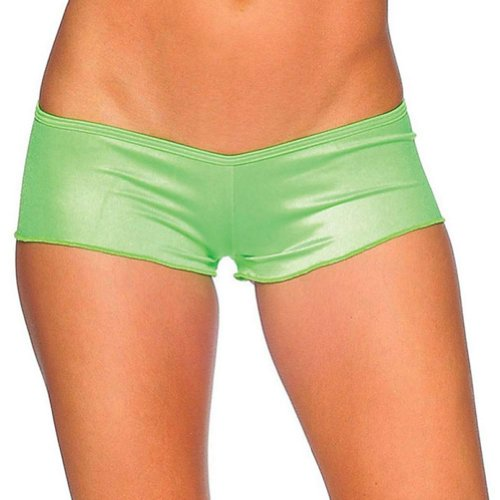 iHeartRaves Scrunch Back Ultra Low Rise Micro Rave Dance Booty Shorts (One Size)