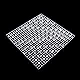 YDZN Aquarium Fish Tank Isolation Divider Filter Patition Board Net Divider Holder, 11.81''x11.81'' (White)