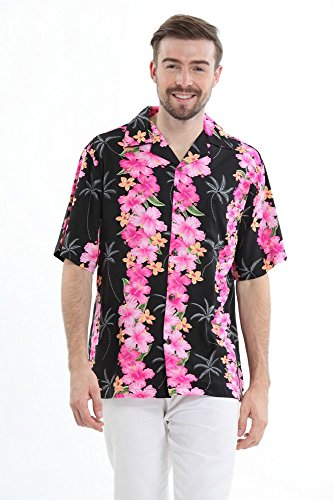 Hacer pareja padre hija hawaiano Luau traje de traje de la camisa de traje Panel Negro Panel Negro