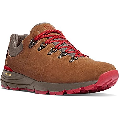 "Danner Women's Mountain 600 Low 3"" Brown/Red Vibram Sole Outdoor Boots 