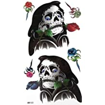 GGSELL King Horse Death Rose tattoo sticker Funny personalized skeleton