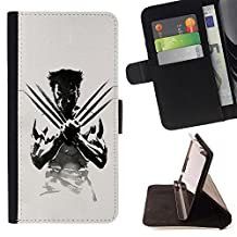 - X Claw Superhero - Premium PU Leather Wallet Case with Card Slots - King Case For Sony Xperia Z1 L39