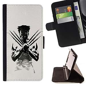 - X Claw Superhero/ Personalizada del estilo del dise???¡¯???¡Ào de la PU Caso de encargo del cuero del tir???¡¯????n del s - Cao - For Samsung Galaxy S3