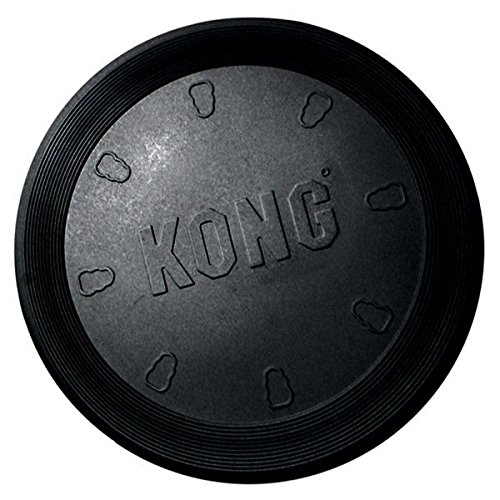 KONG FLYERS Tough Discs for Dogs - Fun Flyer for Playing Fetch with Your Dog !(Extreme Flyer - 11 3/4 Inch Black)
