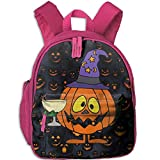 Ugift Cool Print Funny Pumpkin Drinking Halloween 2-6 Children Shoulders Bag Birthday Gift Prize Schoolbag