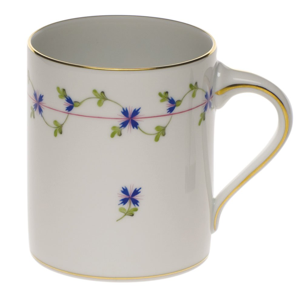 Herend China Blue Garland Coffee Mug