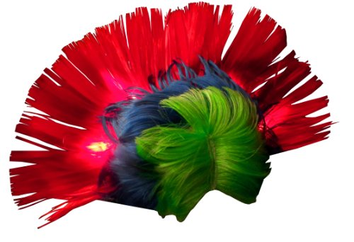 [WeGlow International Light Up Rainbow Mohawk Wig] (Rock And Roll Costume For Kids)