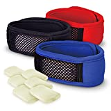 Wildheart Outdoors Natural Mosquito Repellent Bracelet - DEET Free Insect Protection, 3-Pack with 6 Refills (Red, Blue, Black)