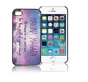 ABC Hakuna Matata Galaxy Star Hard Case Cover for Iphone 5 5g 5s