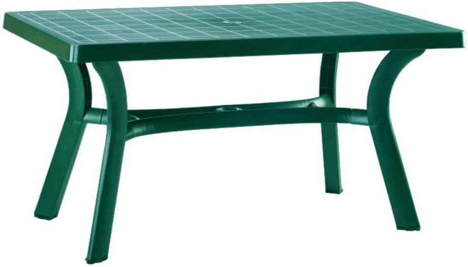 Compamia Sunrise Resin Rectangle Table 55 Inch 29 H x 31 W x 55 D Green