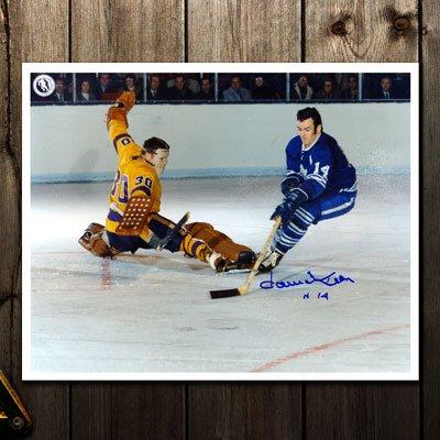 Dave Keon Toronto Maple Leafs vs. DESJARDINS Autographed 8x10