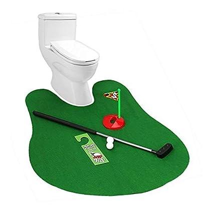 Golf Wc Mat.Yililay Wc Golf Mat Potty Putter Wc Golf Game Mini Golf Set Simulator Fur Neuen Potty Putter Neuheit Spielwaren Golf Lieferungen