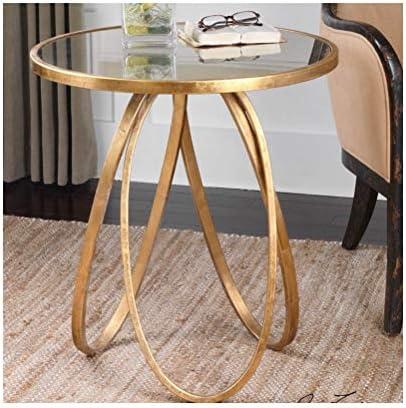 Veilig Betalen Modern Minimalistic Ronde Koffietafel Golden Opbergartikelen Side Rack Coffee Table 4.11 pA7F0sq