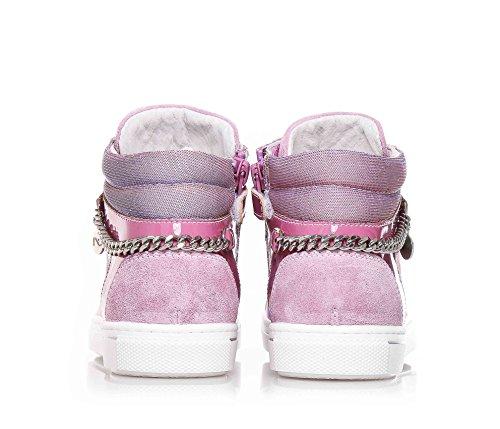 NERO GIARDINI - Baskets lilas à lacets en synthétique et suède, avec nuances irisées, fille, filles, enfant, femme