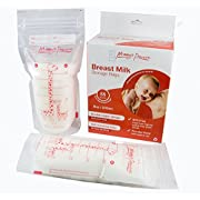 55 Count Breastmilk Storage Bags 8 Oz 250 ml Breastfeeding Freezer Storage Container Bags for Breast Milk comes Pre Sterilized & BPA Free with Accurate Measurements & Leak Proof. Buy Now!