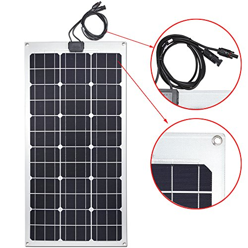 lensun 80w flexibles solarpanel photovoltaik solarmodul monokristalline solarzellen zum. Black Bedroom Furniture Sets. Home Design Ideas
