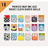 SALE! 18 KaWaii Baby Printed Snap One Size Pocket Cloth Diaper Shells (8-36 lbs)