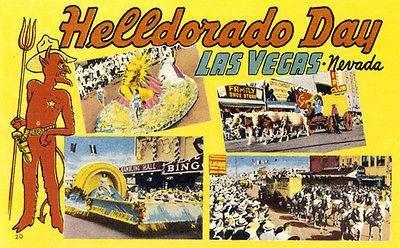 Helldorado Day - Las Vegas NV - 1950's - Vintage Postcard Poster