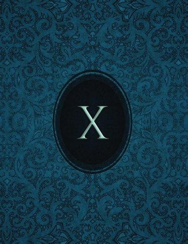 """Download Monogram """"X"""" Sketchbook: Blank Art Pad Notebook Journal (Monogram Cerulean 150 Sketch) (Volume 24) pdf"""