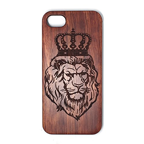 iPhone 5 / 5S / SE Case,BTHEONE [Grained] - real wood [Origin][Non Slip][Wood Tactile] [Natural Wood and PC Rubber] [Fingerprint Free] Case For Apple iPhone 5/5S/SE (4.0