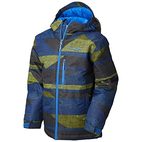 Columbia Kids Boy's Magic Mile Jacket (Little Kids/Big Kids) Super Blue Block Print Medium