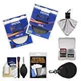 Hoya 77mm NXT (HMC UV + Circular Polarizer) Multi-Coated Glass Filters with Accessory Kit