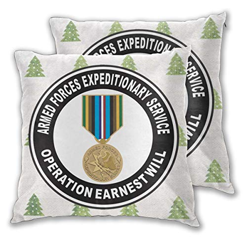 XIAOLONGzhen Armed Forces Expeditionary Medal Operation Earnest Will Sofa Pillow Cases Covers Pillowcase Decor Pillow Square Throw Pillow Cover, Set of 2 (Armed Forces Medal)