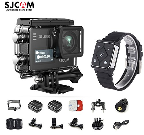 SJCAM SJ6 Kit {Including Extra Battery, SJCAM Remote Watch} SJ6 LEGEND Dual Screen 2″ LCD Touch Screen 2880×2160 Novatek NT96660 Panasonic MN34120PA CMOS 4K Ultra HD Sport DV Action Camera