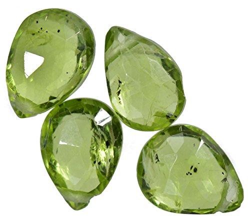 (Peridot Briolettes Large Genuine Gemstone Facet Beads 9mm (4))