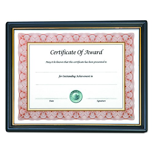 Nu-Dell 8.5 x 11 Inches  EZ Mount Pre-Framed Award Certificate Frame, Black/Gold